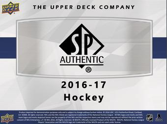 2016/17 Upper Deck SP Authentic Hockey Hobby 8-Box Case- DACW Live 30 Spot Random Team Break #1