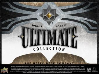 2016/17 Upper Deck Ultimate Collection Hockey Hobby Box (Presell)