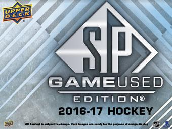 2016/17 Upper Deck SP Game Used Hockey Hobby Box (Presell)