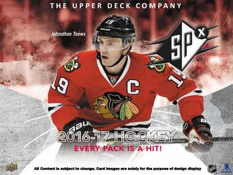 2016/17 Upper Deck SPx Hockey Hobby Box (Presell)