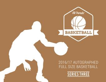 2016/17 Hit Parade Autographed Full Size Basketball Hobby Box - Series - 3 - Michael Jordan!!!