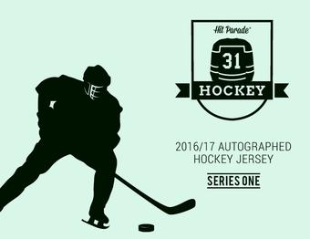 2016/17 Hit Parade Autographed Hockey Jersey Hobby Box - Series 1 -  Sidney Crosby & Alexander Ovechkin!!!