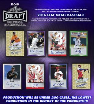 2016 Leaf Metal Draft Baseball Hobby Box (Presell)