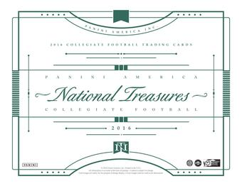 2016 Panini National Treasures Collegiate Football Hobby Box (Presell)