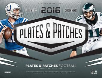 2016 Panini Plates and Patches Football Hobby Box (Presell)