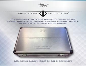 2016 Topps Transcendent Collection Baseball Hobby Case