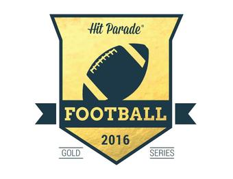 2016 Hit Parade Football Gold Series - 10 Box Case - 110 HITS PER CASE!!