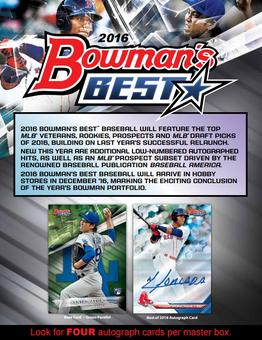 2016 Bowmans Best Baseball Hobby Box (Presell)