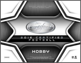 2016 Panini Certified Football Hobby 24-Box Case (Presell)