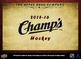 2015/16 Upper Deck Champ's Hockey Hobby Box (Presell)