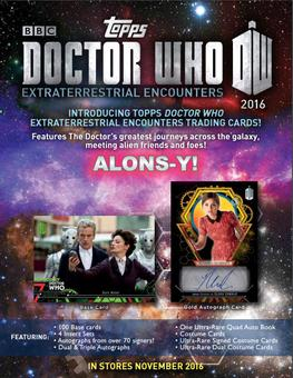 Doctor Who: Extraterrestrial Encounters Hobby 12-Box Case (Topps 2016) (Presell)