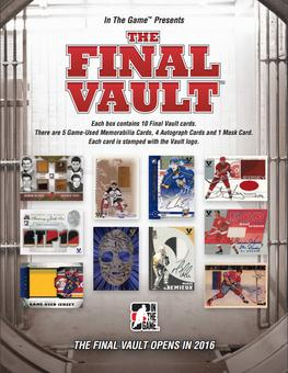 2015/16 In The Game The Final Vault Hockey Hobby Box (Presell)