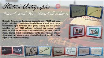 2016 Historic Autographs Friends and Foes Baseball Hobby Box (Presell)