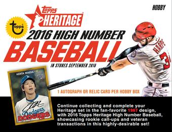 2016 Topps Heritage High Number Baseball Hobby 12-Box Case (Presell)