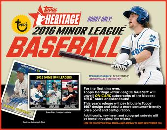 2016 Topps Heritage Minor League Baseball Hobby Pack