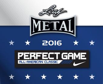 2016 Leaf Metal Perfect Game All-American Classic Baseball Hobby 15-Box Case (Presell)