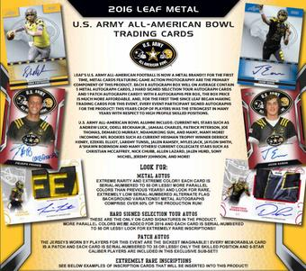2016 Leaf Metal U.S. Army All-American Bowl Football Hobby 15-Box Case