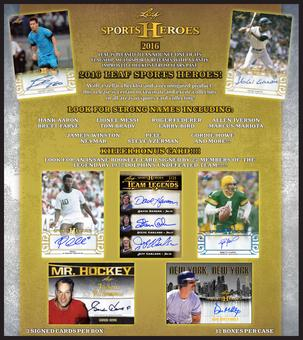 2016 Leaf Sports Heroes Hobby 12-Box Case