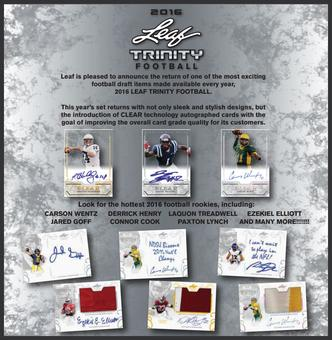 2016 Leaf Trinity Football Hobby Box (Presell)