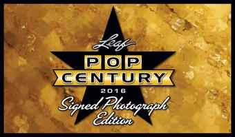 2016 Leaf Pop Century Signed 8x10 Photograph Edition Hobby 12-Box Case (Presell)