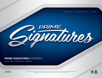 2016 Panini Prime Signatures Football Hobby Box (Presell)