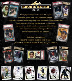 2016 Leaf Rookie Retro Hobby Box (Presell)