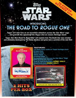 Star Wars Road to Rogue One Hobby 12-Box Case (Topps 2016) (Presell)