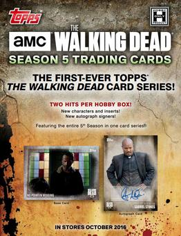 The Walking Dead: Season 5 Hobby Box (Topps 2016) (Presell)