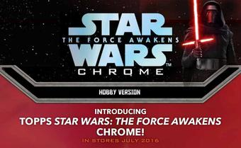 Star Wars: The Force Awakens Chrome Hobby 12-Box Case (Topps 2016) (Presell)
