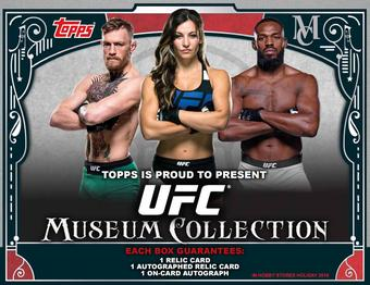 2016 Topps UFC Museum Collection Hobby 12-Box Case (Presell)