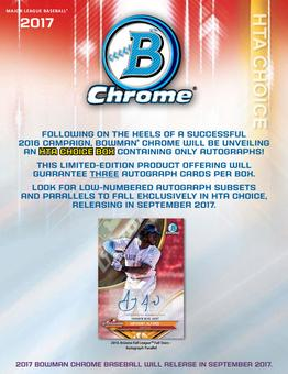 2017 Bowman Chrome Baseball HTA Choice Box (due September)