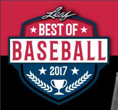 2017 Leaf Best Of Baseball Hobby 5-Box Case- DACW Live Random Hit Break #1