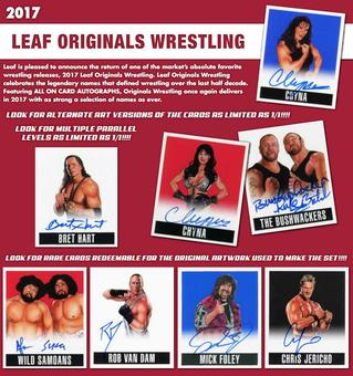 2017 Leaf Originals Wrestling Hobby 12-Box Case (Presell)