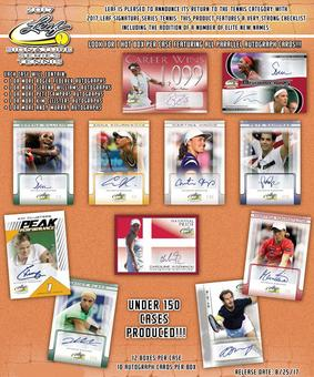 2017 Leaf Signature Series Tennis Hobby Box (Presell)