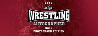 2017 Leaf Wrestling Signed 8x10 Photo Edition Hobby 12-Box Case (Presell)
