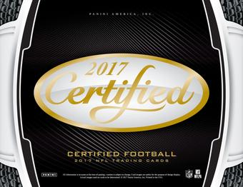 2017 Panini Certified Football Hobby Box (Presell)
