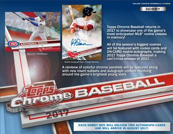 2017 Topps Chrome Baseball Hobby Box (Presell)