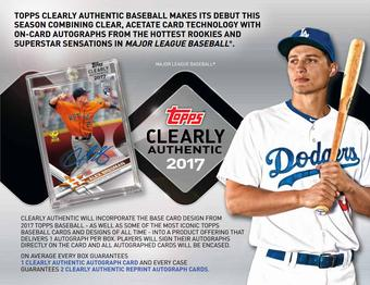 2017 Topps Clearly Authentic Baseball Hobby Box (Presell)