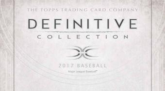 2017 Topps Definitive Collection Baseball Hobby 3-Box Case (Presell)