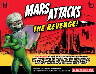 Mars Attacks: The Revenge Trading Cards Hobby 8-Box (Set) Case (Topps 2017) (Presell)
