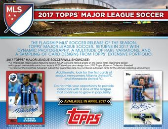 2017 Topps MLS Major League Soccer Hobby Box (Presell)