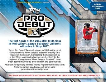 2017 Topps Pro Debut Baseball Hobby 12-Box Case (Presell)