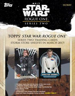 Star Wars Rogue One: Series 2 Hobby Box (Topps 2017) (due April)