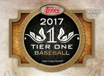 2017 Topps Tier One Baseball Hobby 12-Box Case (Presell)