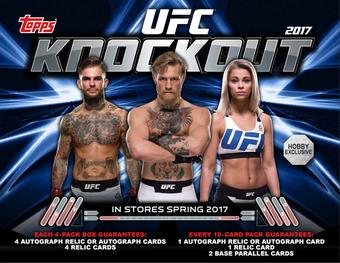 2017 Topps UFC Knockout Hobby Box (Presell)