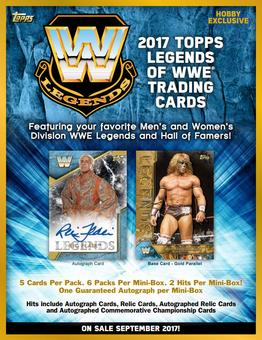 2017 Topps WWE Legends Wrestling Hobby 8-Box Case (Presell)