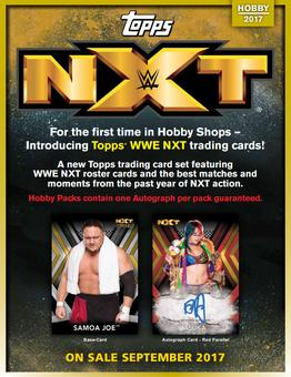 2017 Topps WWE NXT Wrestling Hobby 8-Box Case (Presell)