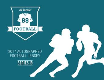 2017 Hit Parade Autographed Football Jersey Hobby Box - Series - 19 - Bart Starr & Jim Brown!!!!