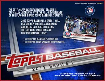2017 Topps Series 1 Baseball Hobby 12-Box Case (Presell) (PLUS 12 Silver Packs!)