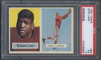 1957 Topps Football #85 Dick Lane PSA 5 (EX) *8896